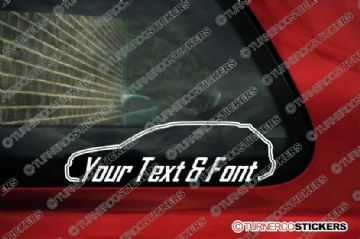 2x Audi A4 (B6) AVANT RS4 Station Wagon CUSTOM TEXT car stickers
